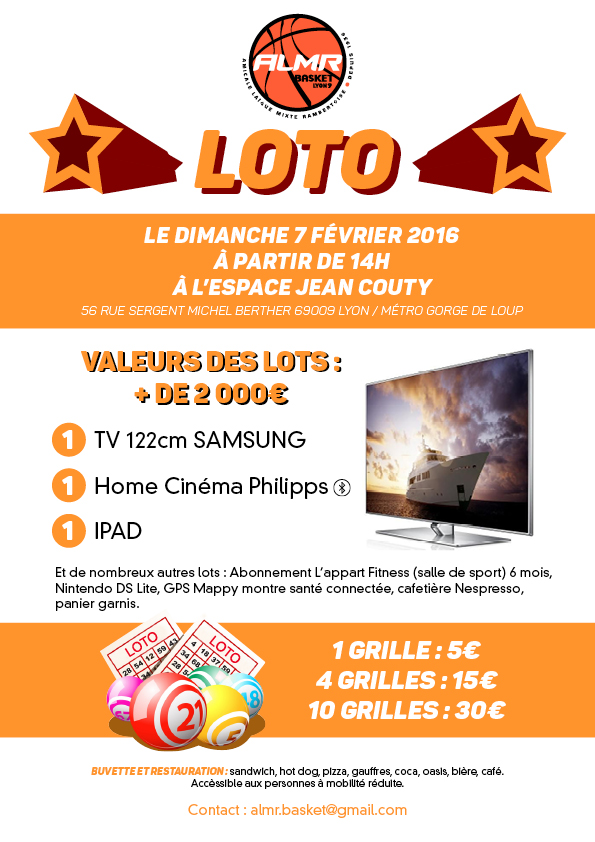 Grand Loto de l'ALMR Basket